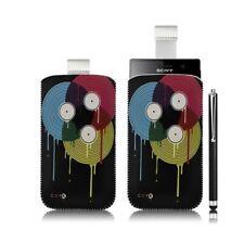 Housse coque étui pochette pour Sony Xperia U avec motif LM08 + stylet luxe