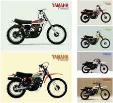 YAMAHA Posters TT500 Set of 6 1976 1977 1978 1979 1980 1981 Suitable to Frame