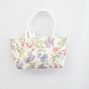 Women's FRANCHETTI BOND White Floral Leather/Textile Shopper Bag 34x18x9cm - R26