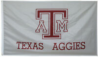 TEXAS A&M AGGIES FLAG 3X5FT white banner US Shipper