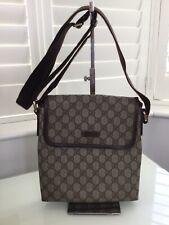 Authentic Gucci Messenger Bag Supreme Canvas Leather Trim. VGC