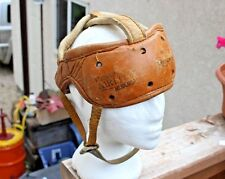 Old Vintage Brown Leather Antique REACH Airlit Hockey Football Helmet Sports