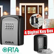 4 Digit Combination Key Lock Box Wall Mount Safe Security Storage Case Organize