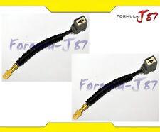 Wire Halogen H1 Ceramic Head Light Two Harness Bulb Repair Plug High Beam Socket