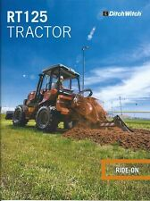 Equipment Brochure - Ditch Witch - RT125 - Ride-On Tractor - 2016 (E5980)