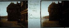 Plaque stéréoscopique photographie La Lieutenance d'Honfleur Restaurant bar 1927