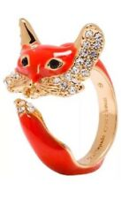 KATE SPADE 12K Gold-Plated 'Into The Woods' Fox Wrap Ring, Sz 6 NEW