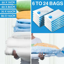6 to 24 Vacuum Storage Bags 4 Size Saver Seal Compressing Space Saving Experts