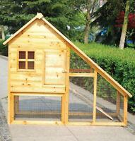 RABBIT HUTCH GUINEA PIG FERRET HOUSE POULTRY LARGE BOX HEN HOUSE PINE WOOD