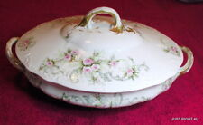 """Theo Haviland (Schleiger 312C) 9 1/2"""" OVAL COVERED SERVING BOWL GUC"""