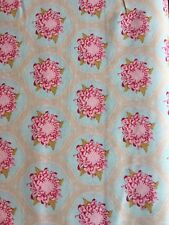 Tilda Mum Flower Ornament Teal Fabric 1m crafting quilting Cotton material Olive