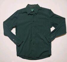 Cinch Modern Fit Long Sleeve Western Shirt Green Stripped Mens Small