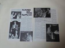Ted Gardestad Geordie Brian Johnson Ricky Wilde James clippings Sweden 1970s
