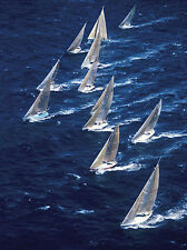 SAILING ART PRINT Regatta Paolo Curto