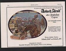 RÜDESHEIM, Werbung 1915, Hugo Asbach Weinbrand Asbach Uralt deutscher Cognac