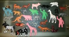 Lotto 27 animali vintage , vinil o gomma dura . action figures animal