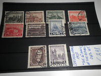 "STAMPS CZECHOSLOVAKIA 1928 ""THE 10° ANNIV. OF THE REPUBLIC"" USED SET (CAT.5A)"