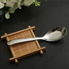 New Stainless Steel Chinese Large Soup Spoons Kitchen Ramen Spoons Flatware