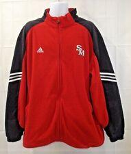 Adidas Mens 2XL Clima Warm Red Fleece Full Zip Jacket Coat Size 2XL
