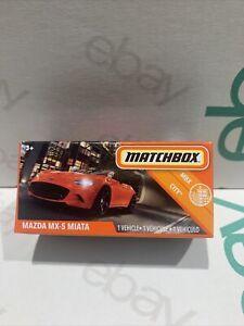2020 MATCHBOX MATTEL POWER GRABS MAZDA MX-5 MIATA ORANGE SUPERFAST MIB 35/100