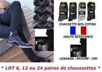 6 / 12 / 24 PAIRES DE CHAUSSETTES HOMME GARCON COTON TENNIS TALON RENFORCE