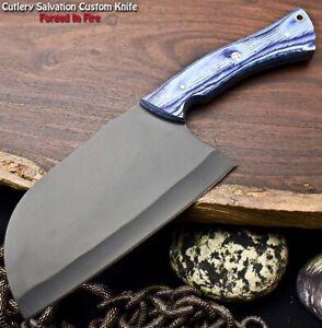 Cutlery Salvation Handmade Powder Coated Carbon steel Chopper Full Tang Knife
