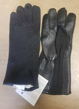 New Genuine UKSF SAS SBS Issue Black Assault Suit Nomex Leather Gloves Medium M