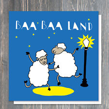 BIRTHDAY or GREETINGS card - satire for LA LA LAND (or sheep) fans :-)