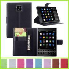 Wallet Leather Flip Case Cover For Blackberry Q30 Passport Genuine Oz Seller