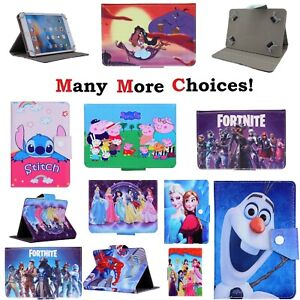 """7"""" 8"""" 9.7"""" 10 inch Kids Cover Case PU Leather For Android Tablet PC New Stand Up"""