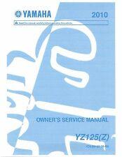 Yamaha owners service manual 2010 YZ125 (Z)