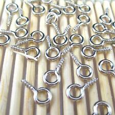 100 Pcs/Set Tiny Eye Pins Eyepins Hooks Threaded Peg Eyelets Metal Screw Mini