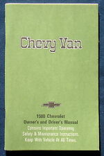 Owner's Manual * Betriebsanleitung 1980 Chevrolet Chevy Van (USA)