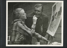 CLARK GABLE + WIFE SYLVIA WITH HER PAINTING -1951 DBLWT IN N. MINT COND. WESTERN