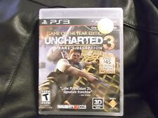 Uncharted 3: Drake's Deception - Game of the Year Edition - PS3-Black Label. NEW