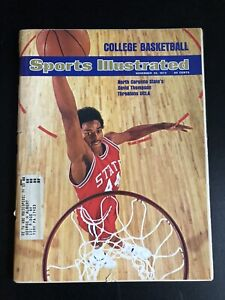 Nov 26 1973 Sports Illustrated David Thompson NC State College Basketball Prev