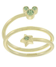 Disney Parks Mickey Mouse Faux Gem August  Birthstone Adjustable Gold Color Ring