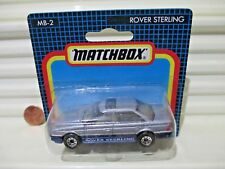 Matchbox 1987 MB2 Silver + Blue ROVER STERLING Car Nu in Excellent BubblePackage