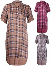 Plus Size Collared Checked Dresses for Women