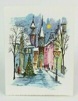 Alfred Mainzer W Germany Silver Glittered Vintage Christmas Card