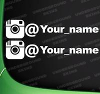 INSTAGRAM YOUR NAME X2 FUNNY JDM DRIFT EURO WINDOW VW VINYL DECAL CAR STICKER