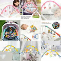 Cute Cartoon Animal Plush Doll Toys Newborn Rattle Clip Soft Bed Hanging Toys  N