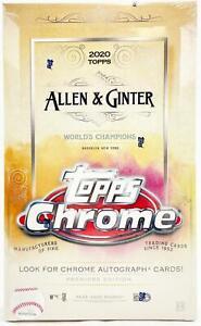 2020 Allen & Ginter Chrome Baseball Hobby Box Factory Sealed #9