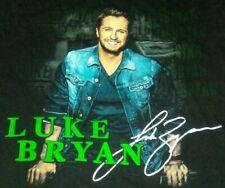 Luke Bryan 2015 Kick Up The Dust Concert Tour Dates Black T-Shirt Medium