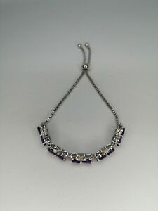 Amethyst Stainless Steel Bracelet 10.00k - 7.5inch