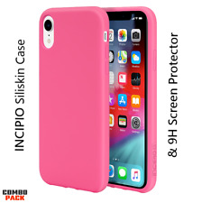 Apple iPhone XR Incipio Siliskin Protective Case & 9H HD Screen Protector COMBO