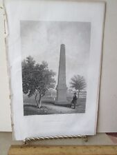 Vintage Print,SOLDIERS MONUMENT,Ladies Repository,c1857