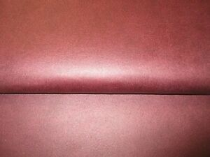 HIGH QUALITY FAUX LEATHER UPHOLSTERY FABRIC IN CHESTNUT OXBLOOD.