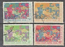 South VIETNAM  1959 used SC#108/111 set, Trung Sisters resisted Chinese invasion