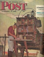 1946 SEPTEMBER 14 THE SATURDAY EVENING POST MAGAZINE -ILLUSTRATED COVER -